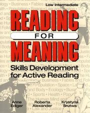Cover of: Reading for meaning