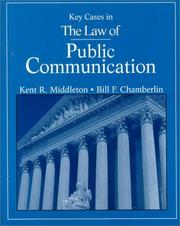 Cover of: Key cases in the law of public communication