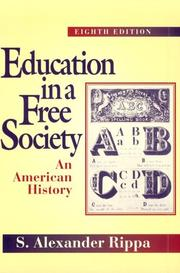 Cover of: Education in a free society