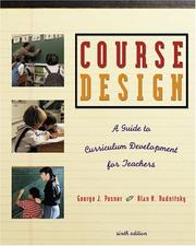 Cover of: Course design | George J. Posner