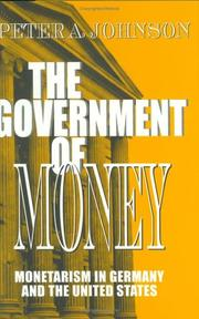 Cover of: The government of money