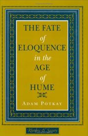 Cover of: The fate of eloquence in the age of Hume