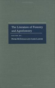 Cover of: The literature of forestry and agroforestry |