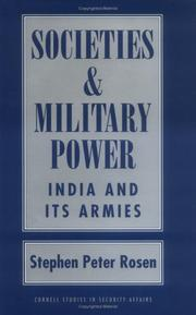 Cover of: Societies and military power
