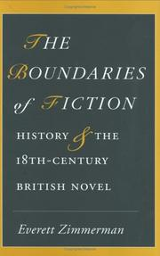 Cover of: The boundaries of fiction