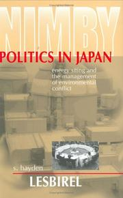 Cover of: Nimby Politics in Japan