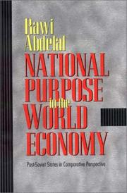 Cover of: National Purpose in the World Economy | Rawi Abdelal