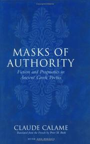 Cover of: Masks of authority | Claude Calame