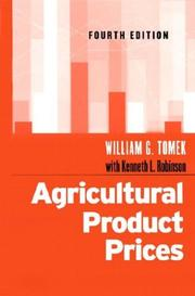 Agricultural product prices by William G. Tomek