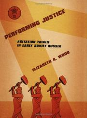 Cover of: Performing Justice | Elizabeth A. Wood