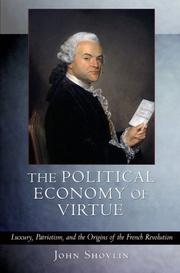 Cover of: The Political Economy of Virtue | John Shovlin