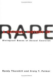 Cover of: A natural history of rape