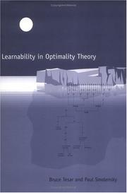 Cover of: Learnability in optimality theory