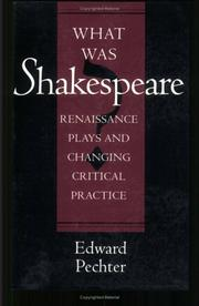 Cover of: What was Shakespeare?