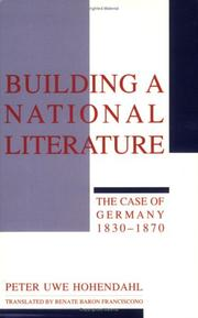 Cover of: Building a national literature | Peter Uwe Hohendahl