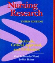 Cover of: Nursing research |