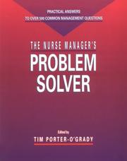 Cover of: The Nurse manager's problem solver