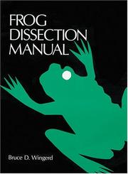 Cover of: Frog Dissection Manual (Johns Hopkins Dissection Series) |