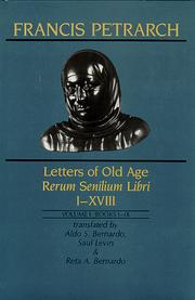 Cover of: Letters of old age =: Rerum senilium libri, I-XVIII
