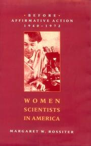 Cover of: Women scientists in America | Margaret W. Rossiter
