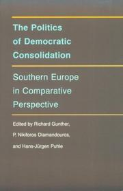 Cover of: The Politics of democratic consolidation