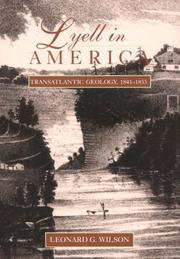 Cover of: Lyell in America