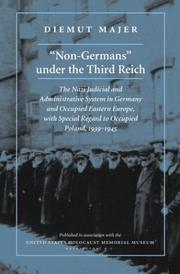 "Cover of: ""Non-Germans"" under the Third Reich"