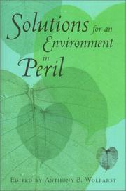 Cover of: Solutions for an Environment in Peril