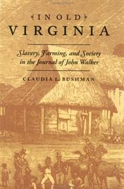 Cover of: In old Virginia