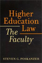 Cover of: Higher Education Law | Steven G. Poskanzer