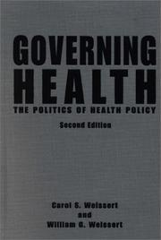 Cover of: Governing Health | Carol S. Weissert