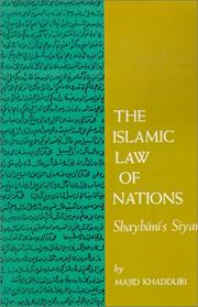 Cover of: The Islamic Law of Nations