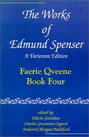 Cover of: The Works of Edmund Spenser: A Variorum Edition