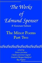 Cover of: The Works of Edmund Spenser: A Variorum Edition (The Works of Edmund Spenser : a Variorum Edition, 8) | Edmund Spenser