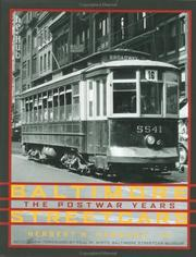 Cover of: Baltimore Streetcars | Herbert H., Jr. Harwood