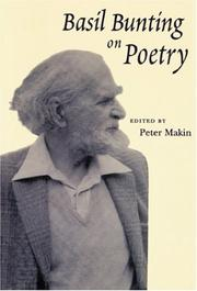 Cover of: Basil Bunting on Poetry | Peter Makin