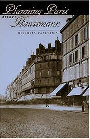 Cover of: Planning Paris before Haussmann