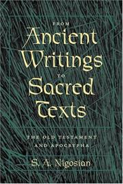 Cover of: From Ancient Writings to Sacred Texts