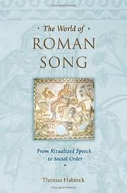 Cover of: The world of Roman song