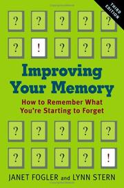 Cover of: Improving Your Memory | Janet Fogler