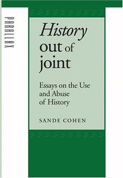Cover of: History Out of Joint: Essays on the Use and Abuse of History (Parallax: Re-visions of Culture and Society)