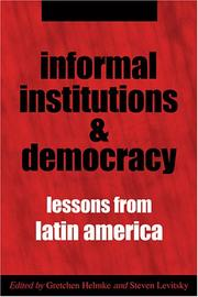 Cover of: Informal institutions and democracy |