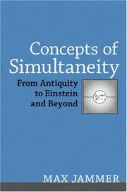 Cover of: Concepts of simultaneity