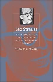 Cover of: Leo Strauss | Thomas L. Pangle