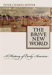Cover of: The brave new world: a history of early America