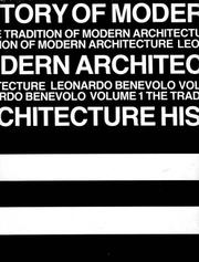 Cover of: History of Modern Architecture, Vol. 1