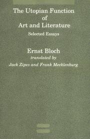 Cover of: The Utopian Function of Art and Literature