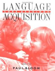 Cover of: Language Acquisition