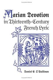 Marian Devotion in Thirteenth-Century French Lyric