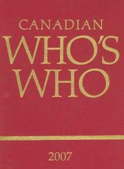 Cover of: Canadian Who